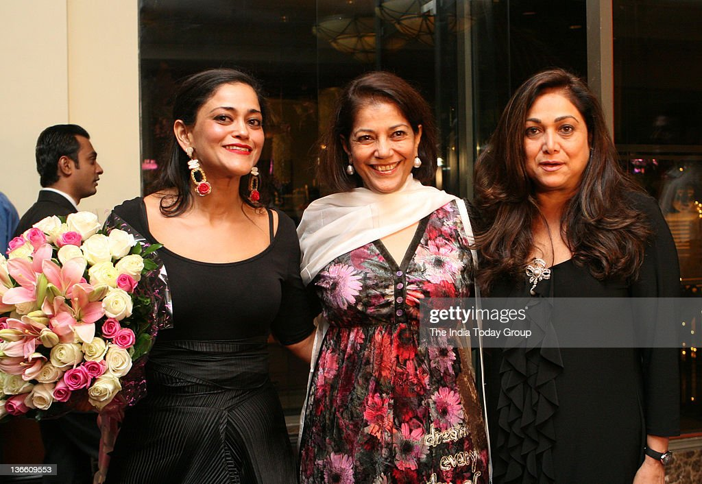 Kalli Purie with Tina Ambani and Rekha Purie at the launch of Kalli Purie`s book Confessions of a Serial Dieter in Mumbai on Saturday January 7 2012