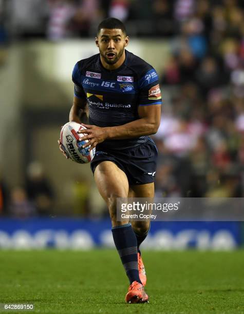 Kallum Watkins of Leeds during the Betfred Super League match between Leigh Centurions and Leeds Rhinos at Leigh Sports Village on February 17 2017...