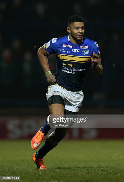 Kallum Watkins of Leeds Rhinos looks on during the First Utility Super League match between Leeds Rhinos and Widnes Vikings at Headingley Carnegie...
