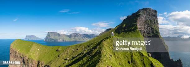 Kallur lighthouse, Kalsoy island, Denmark, Faroe Islands.