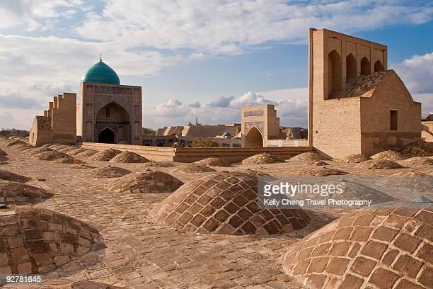 kalon mosque - oezbekistan stockfoto's en -beelden