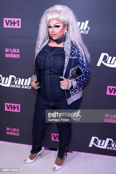 Kalorie KarbdashianWilliams attends 'RuPaul's Drag Race' Season 10 Meet The Queens at TRL Studios on March 21 2018 in New York City