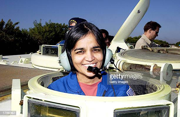 Kalpana Chawla Space Shuttle mission specialist for STS107 poses for a picture on December 18 2002 at Kennedy Space Center in Cape Canaveral Florida...