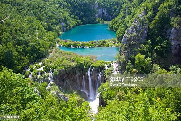 kaluderovac lake and falls, plitvice np, croatia - croatia stock pictures, royalty-free photos & images