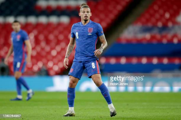 Kalvin Phillips of England during the UEFA Nations League group stage match between England and Denmark at Wembley Stadium on October 14, 2020 in...