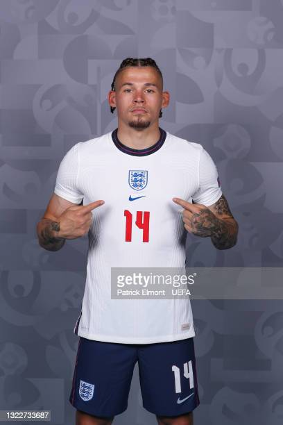 Kalvin Phillips of England poses during the official UEFA Euro 2020 media access day at St George's Park Futsal Arena on June 08, 2021 in Burton upon...