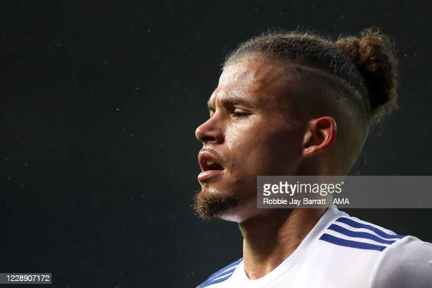 Kalvin Phillips of Leeds United during the Premier League match between Leeds United and Manchester City at Elland Road on October 3 2020 in Leeds...