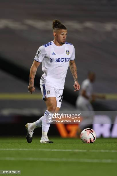 Kalvin Phillips of Leeds United during the Premier League match between Leeds United and Wolverhampton Wanderers at Elland Road on October 19 2020 in...