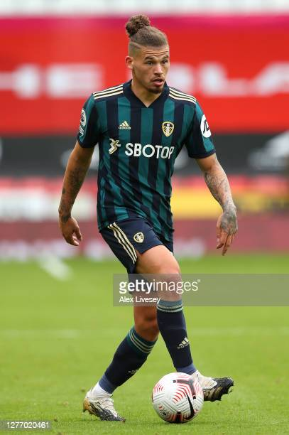 Kalvin Phillips of Leeds United during the Premier League match between Sheffield United and Leeds United at Bramall Lane on September 27 2020 in...