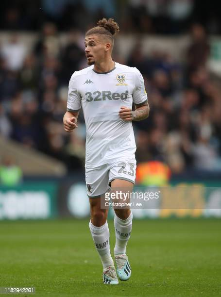 Kalvin Phillips Of Leeds United in action during the Sky Bet Championship match between Millwall and Leeds United at The Den on October 05, 2019 in...