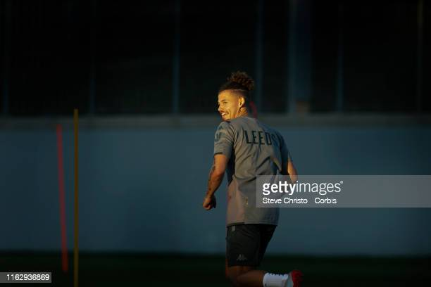 Kalvin Phillips of the Leeds United during a Leeds United training session at Sydney Olympic Park on July 19 2019 in Sydney Australia
