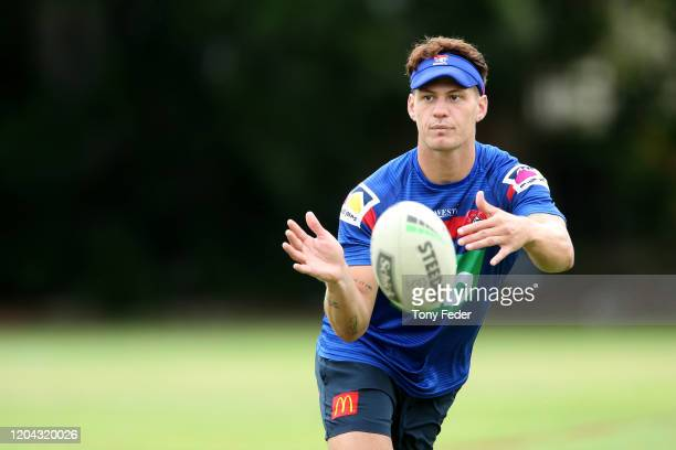 Kalyn Ponga of the Knights during a Newcastle Knights NRL training session at Newcastle on February 06 2020 in Newcastle Australia