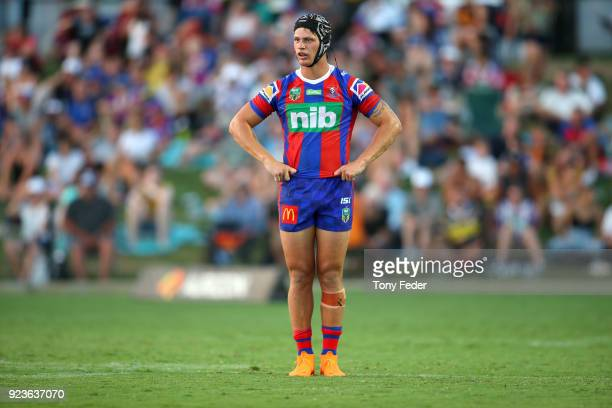Kalyn Ponga of the Knights during the NRL Trial Match between the Newcastle Knights and the Parramatta Eels at Maitland No 1 Showground on February...
