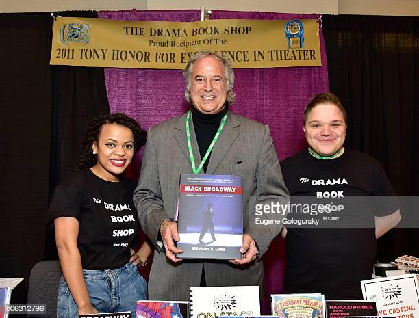 "Kalyne Coleman, Stewart F. Lane, and Steven Carl McCasland attend the Stewart F. Lane Book Signing Of ""Black Broadway"" At BroadwayCon at New York..."