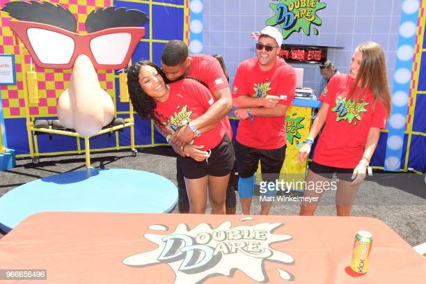 Kam Williams Leroy Garrett Chris 'CT' Tamburello and Jenna Compono attend Double Dare presented by Mtn Dew Kickstart at Comedy Central presents...