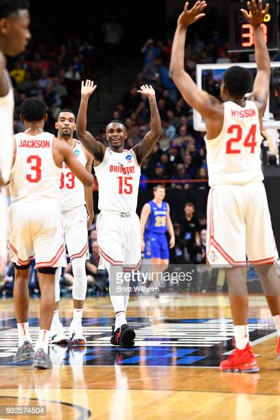 Kam Williams of the Ohio State University Andre Wesson of the Ohio State University CJ Jackson of the Ohio State University and Keita BatesDiop of...