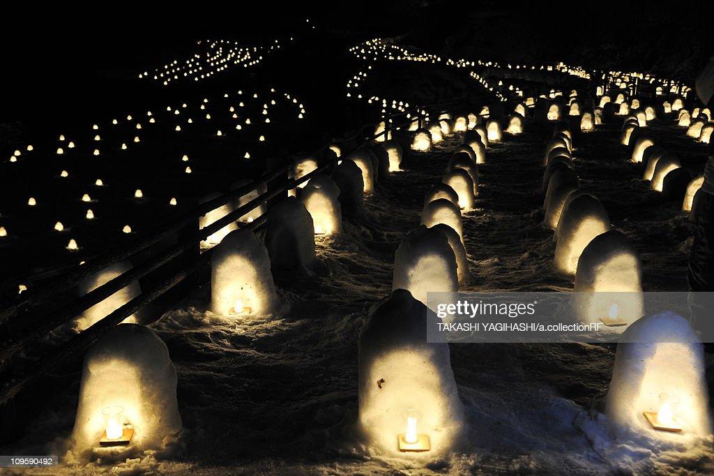 Kamakura festival at Yunishigawa hot spring, Tochigi Prefecture, Honshu, Japan : ストックフォト