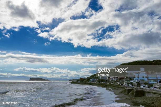kamakura seaside - liyao xie stock pictures, royalty-free photos & images