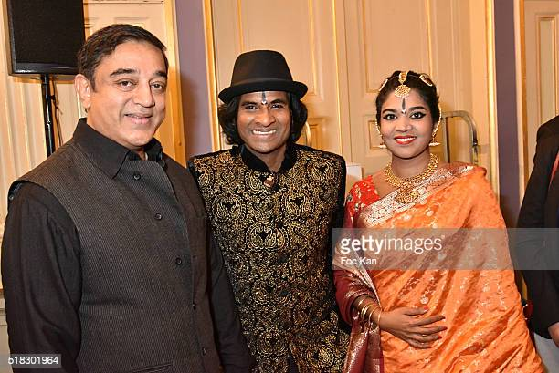 Kamal Haasan dancers Raghunath Manet and Iranganie Perera attend '10eme Rencontres Internationales de Cinema de Patrimoine 2016' Opening Ceremony at...