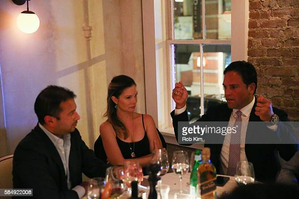 Kamal Hotchandani Alicia Rickter and Mike Piazza attend 'Haute Living Honors Mike Piazza' dinner event presented by Johnnie Walker Blue Label and...