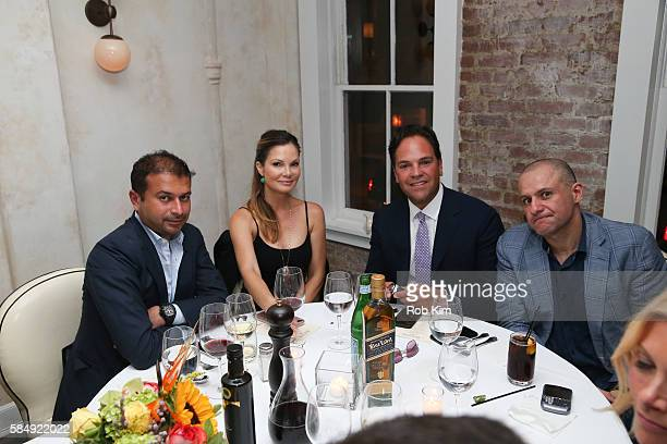 Kamal Hotchandani Alicia Rickter Mike Piazza and Ronn Torossian attend 'Haute Living Honors Mike Piazza' dinner event presented by Johnnie Walker...
