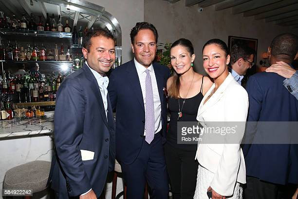 Kamal Hotchandani Mike Piazza Alicia Rickter and Violet Camacho attend 'Haute Living Honors Mike Piazza' dinner event presented by Johnnie Walker...