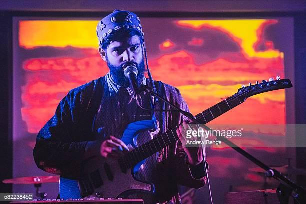 Kamal Rasool of Flamingods performs on stage at Headrow House on May 18, 2016 in Leeds, England.