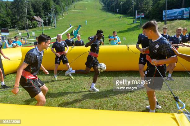 Kamal Sowah during team bonding activities during the OHL Leuven training session on July 09 2018 in Maribor Slovenia