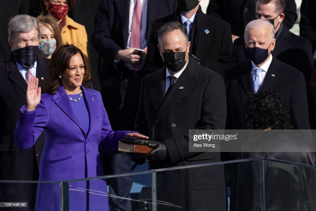 Joe Biden Sworn In As 46th President Of The United States At U.S. Capitol Inauguration Ceremony : News Photo