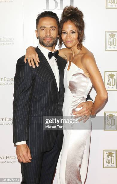 Kamar de los Reyes and Sherri Saum attend A Legacy of Changing Lives presented by The Fulfillment Fund held at The Ray Dolby Ballroom at Hollywood...