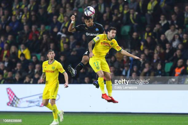 Kamara Boubacar of Marseille and Gabriel Boschilia of Nantes during the French Ligue 1 match between FC Nantes and Olympique de Marseille on December...