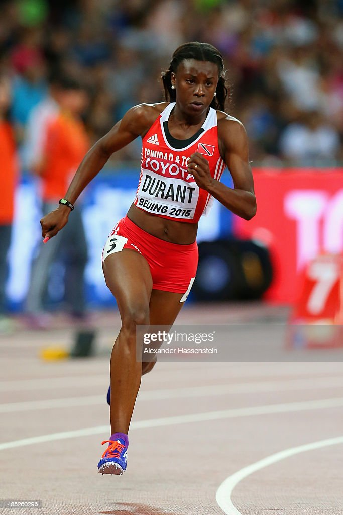 Kamaria Durant of Trinidad and Tobago competes in the ...