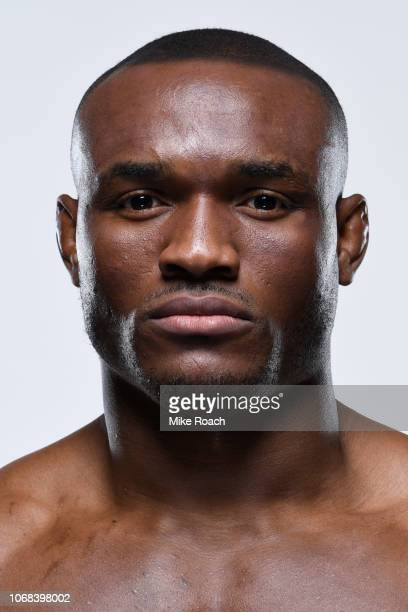 Kamaru Usman of Nigeria poses for a portrait during a UFC photo session on November 27 2018 in Las Vegas Nevada