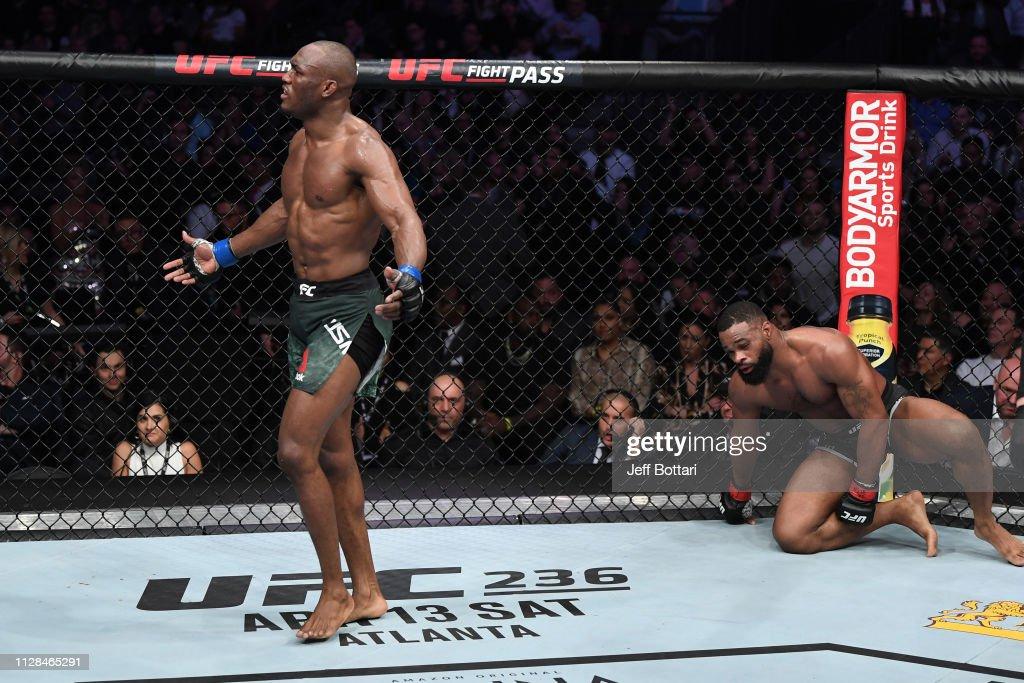 UFC 235: Woodley v Usman : News Photo