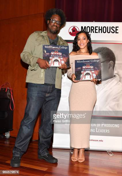 W Kamau Bell and Angela Rye attend 'HBCU' Episode Preview and Panel Discussion hosted by United Shades of America With W Kamau Bell at Morehouse...