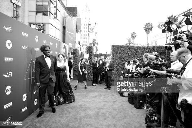 W Kamau Bell and Melissa Bell attend the 47th AFI Life Achievement Award honoring Denzel Washington at Dolby Theatre on June 06 2019 in Hollywood...