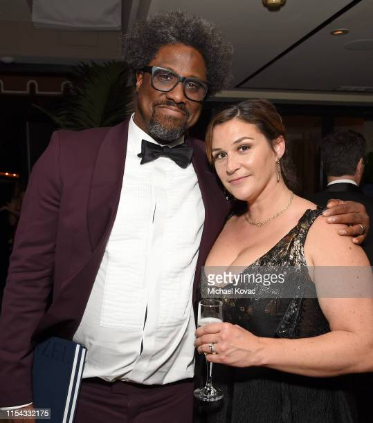 W Kamau Bell and Melissa Hudson Bell attend the 47th AFI Life Achievement Award Honoring Denzel Washington After Party at Sunset Tower Hotel on June...
