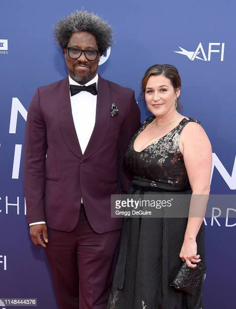 W Kamau Bell and Melissa Hudson Bell attend the American Film Institute's 47th Life Achievement Award Gala Tribute To Denzel Washington at Dolby...