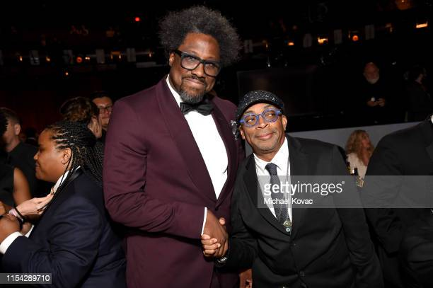 W Kamau Bell and Spike Lee attend the 47th AFI Life Achievement Award honoring Denzel Washington at Dolby Theatre on June 06 2019 in Hollywood...