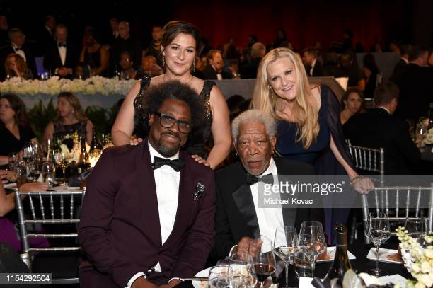 W Kamau Bell Melissa Bell Morgan Freeman and Lori McCreary attend the 47th AFI Life Achievement Award honoring Denzel Washington at Dolby Theatre on...