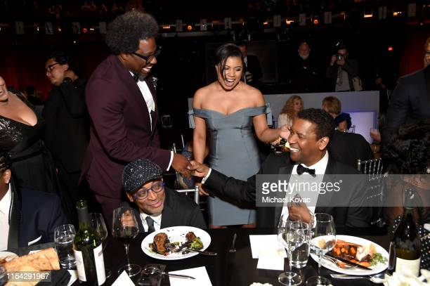 W Kamau Bell Spike Lee and Denzel Washington attend the 47th AFI Life Achievement Award honoring Denzel Washington at Dolby Theatre on June 06 2019...