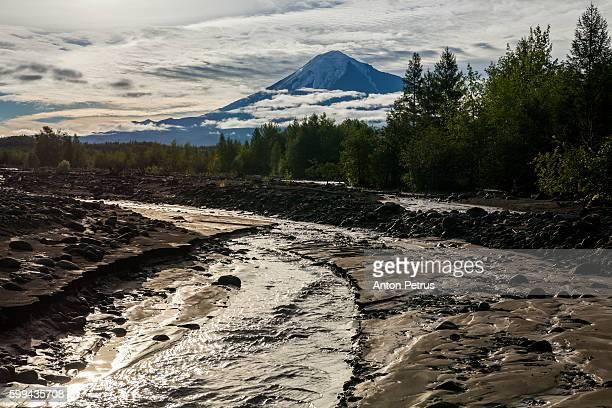 Kamchatka Peninsula, View of Tolbachik volcano