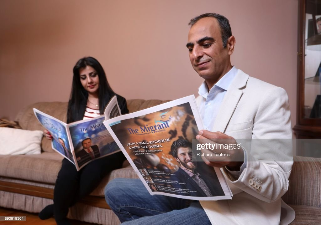 """Kameel Nasrawi has started a newspaper called """"The Migrant"""" in Arabic and English. : News Photo"""