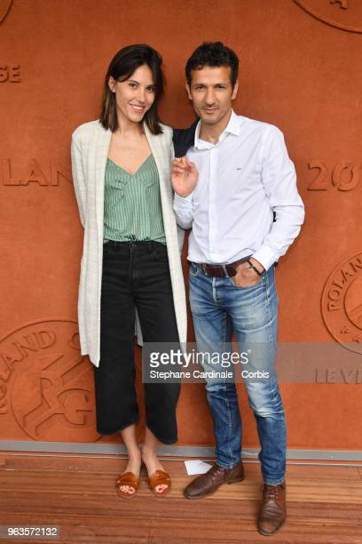Kamel Belghazi and Marine Thierry attends the 2018 French Open Day three at Roland Garros on May 29 2018 in Paris France