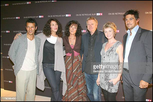 Kamel Belghazi Linda Hardy Xx Xavier Deluc Virginie Caliari and Jean Pascal at Press Conference For On Se Retrouve Sur TF1