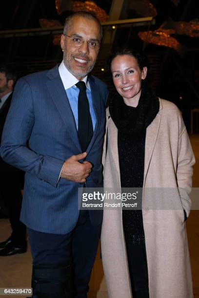 Kamel Mennour and his wife Annika attend the Private View of Icones de l'Art Moderne la Collection Chtchoukine at Fondation Louis Vuitton on February...