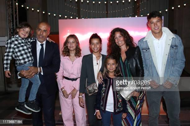 Kamel Mennour his wife Annika Mennour and their children attend the Kamel Mennour Clemence Didier Krzentowski Galerie 20 Printemps En Automne...