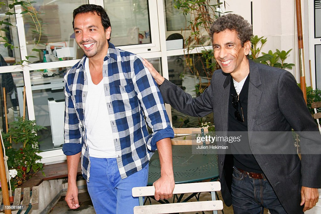 Kamel Ouali (L) and Rachid Bouchareb attend the 2nd Pan-African Cultural Festival in Algeria Press Conference on June 3, 2009 in Paris, France.