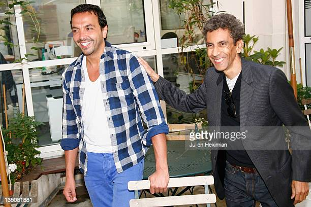 Kamel Ouali and Rachid Bouchareb attend the 2nd PanAfrican Cultural Festival in Algeria Press Conference on June 3 2009 in Paris France