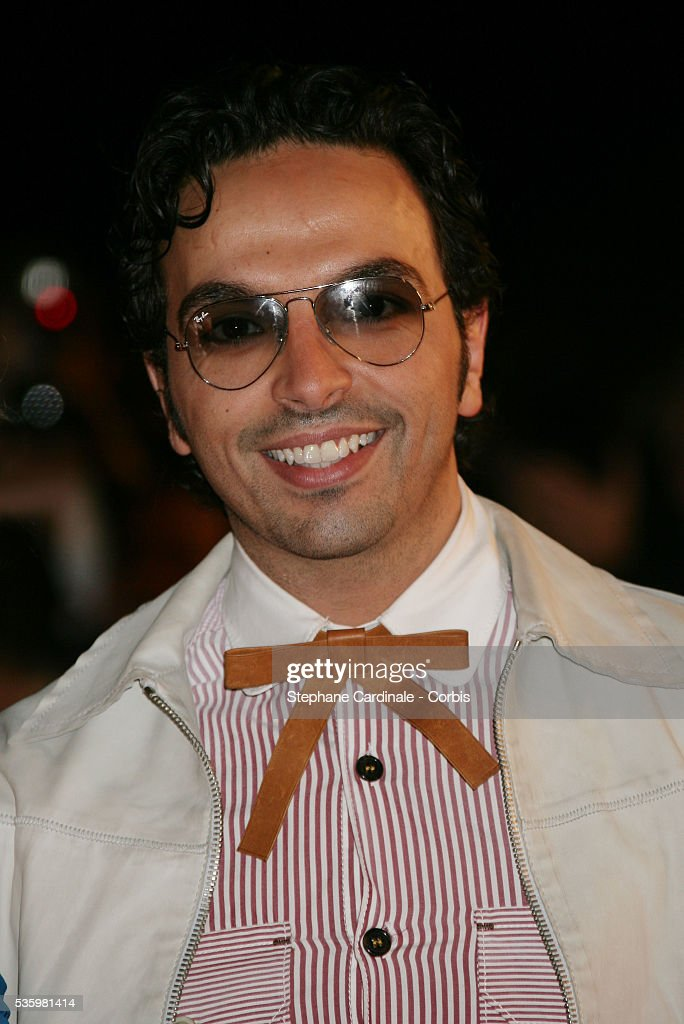 Kamel Ouali arriving at the Cannes festival palace to attend the NRJ Music Awards.